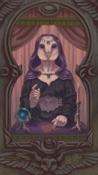 The Owl-Woman Oracle main screen mock-up