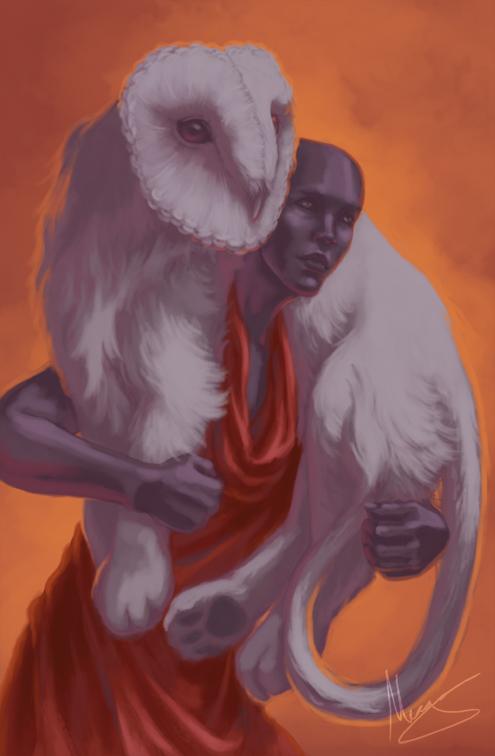 Owl_Woman_Oracle_Strength_Card